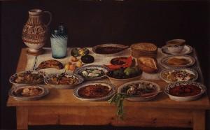 """Cocina poblana"", anónimo. Acervo MUNAL"