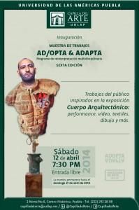 Cartel inaguracion ADOPTA & ADAPTA