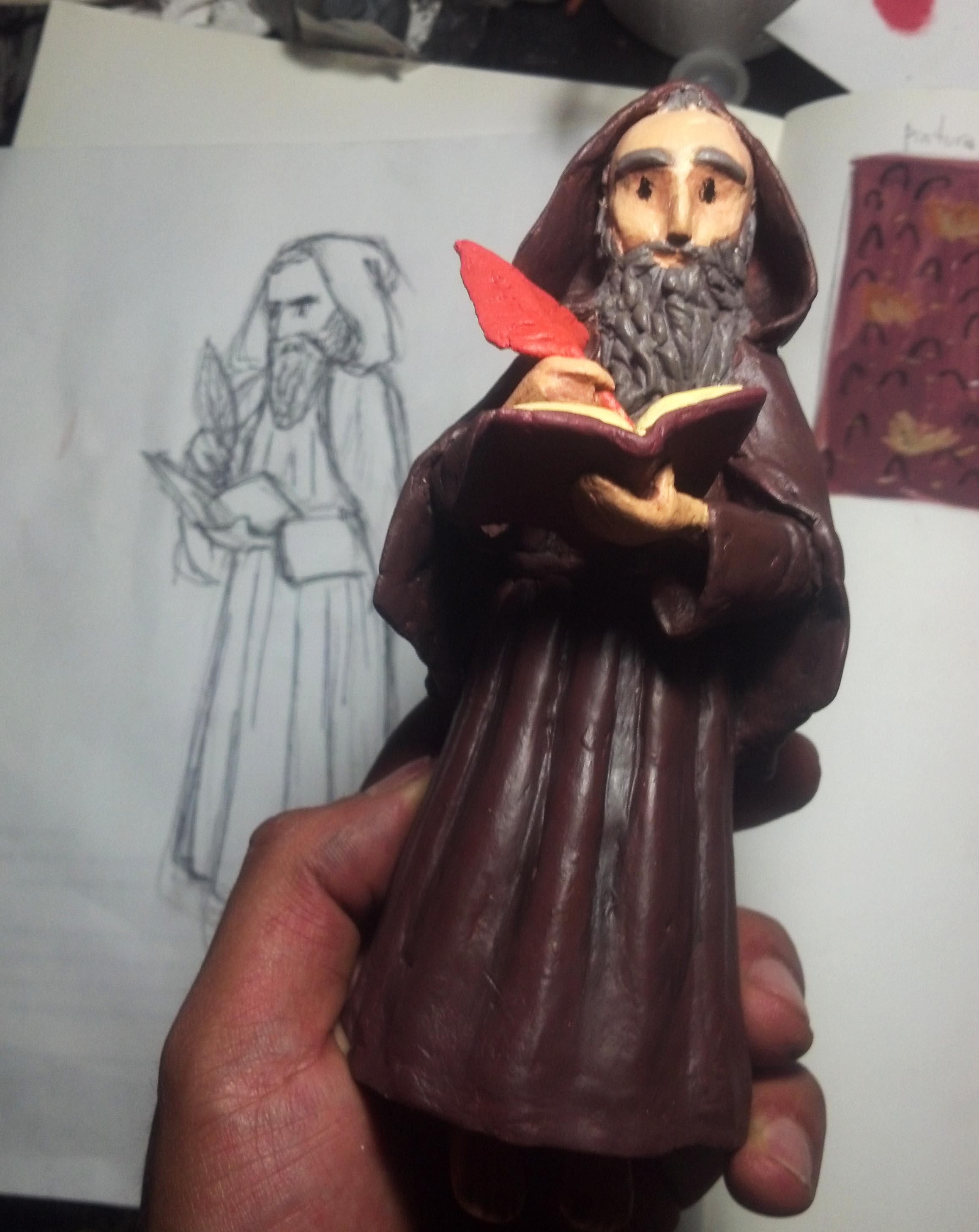 """Figura que es parte de """"El ascetismo de San Antonio""""."""