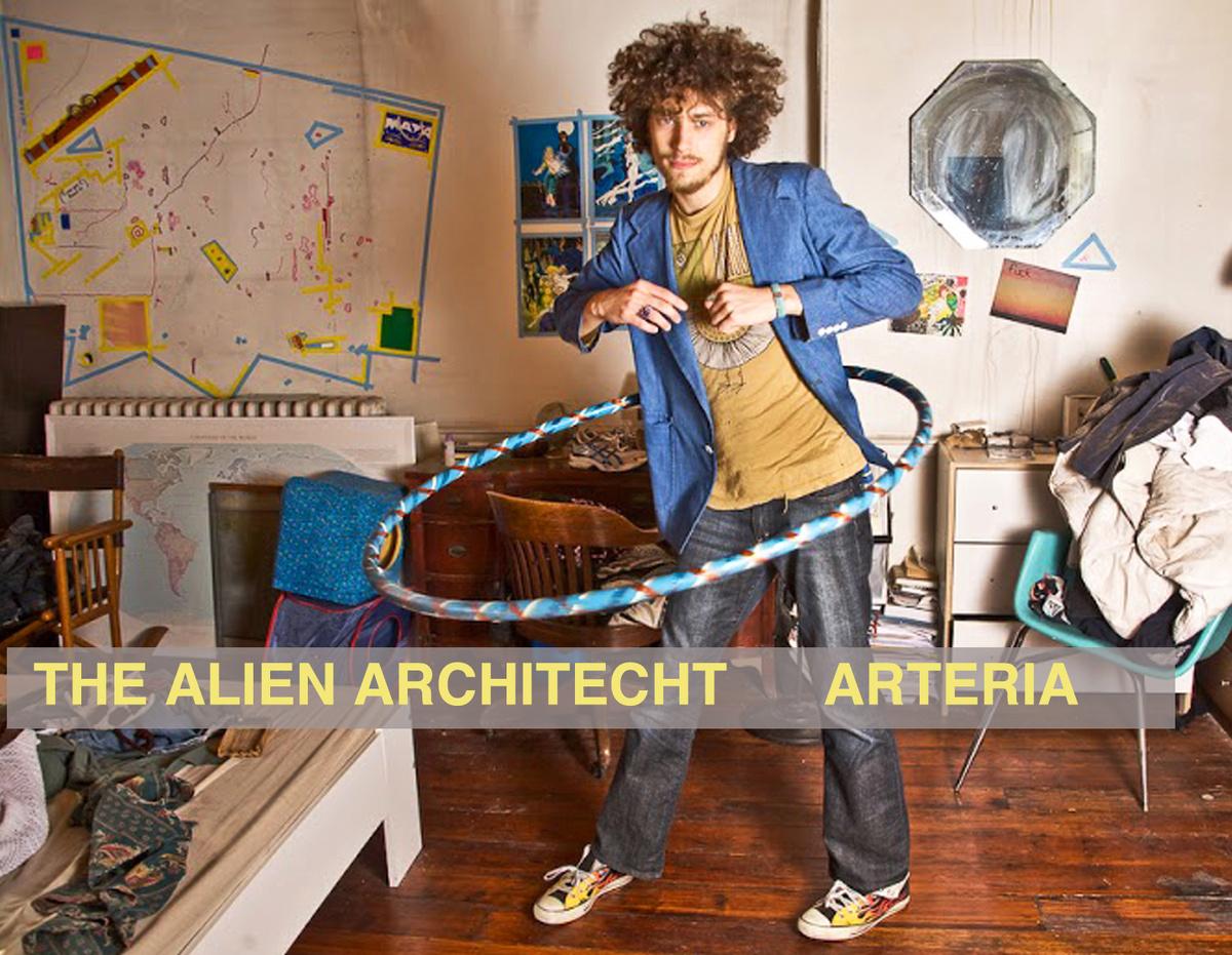 Portada del álbum de Alien Architect (Imagen tomada del sitio de Revista Marvin)