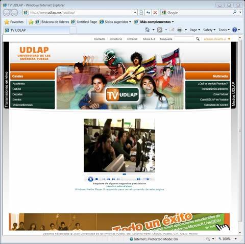 Bienvenido al blog institucional que forma parte la estrategia Web 2.0 de la UDLAP.