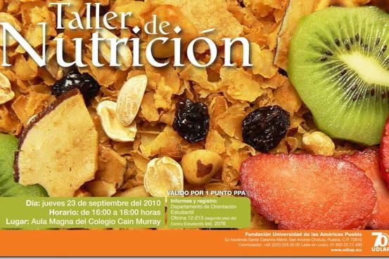Taller de Nutrición en la UDLAP