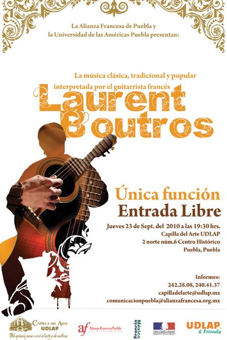 Hoy Laurent Boutros  en la Capilla del Arte