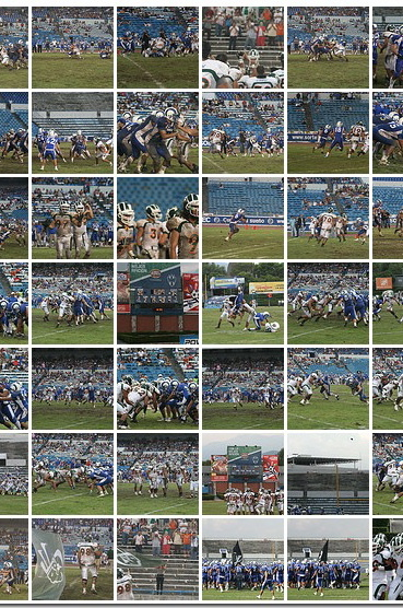 Fotogalería del partido de la victoria de Aztecas UDLAP sobre Borregos Monterrey – 25 de Septiembre de 2010
