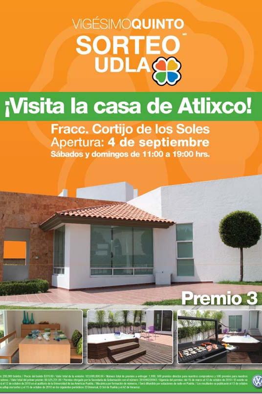 Sorteo UDLA los invita a conocer su premio 3 ubicado en la ciudad de Atlixco