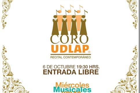 Coro UDLAP : Recital Contemporáneo: entrada libre