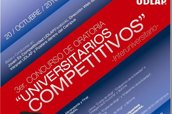 "3er. Concurso de Oratoria ""Universitarios Competitivos"""