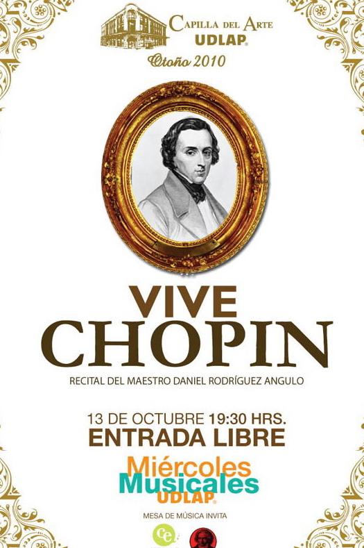 Vive Chopin en la Capilla del Arte UDLAP