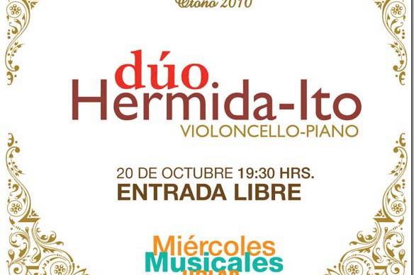 Hoy en Capilla del Arte: dúo Hermida-Ito