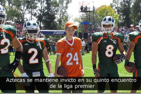 Aztecas se mantiene invicto en su quinto encuentro de la liga premier