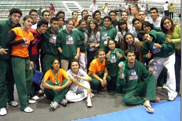 Taekwondo varonil de la UDLAP obtiene primer lugar en la CONADEIP