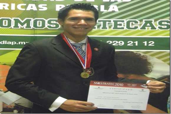Con proyecto de destilador solar estudiante de la UDLAP obtiene tercer lugar en la Muestra Internacional de Ciencia y Tecnología