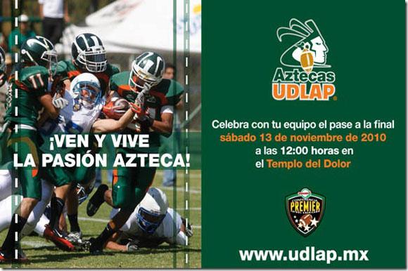 Gana Boletos para el partido de semifinales entre Aztecas UDLAP y Borregos CEM.