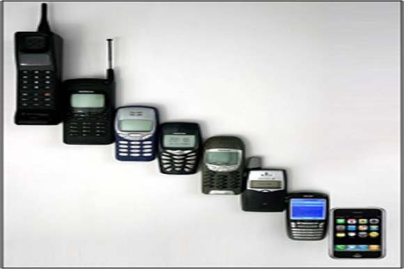 La evolución del teléfono celular