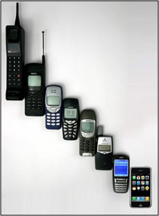 Fotos de telefonos celulares antiguos y modernos 60