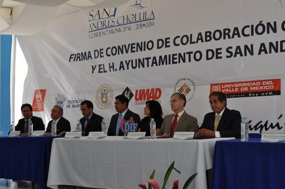 UDLAP firma convenio de colaboración con el municipio de San Andrés Cholula