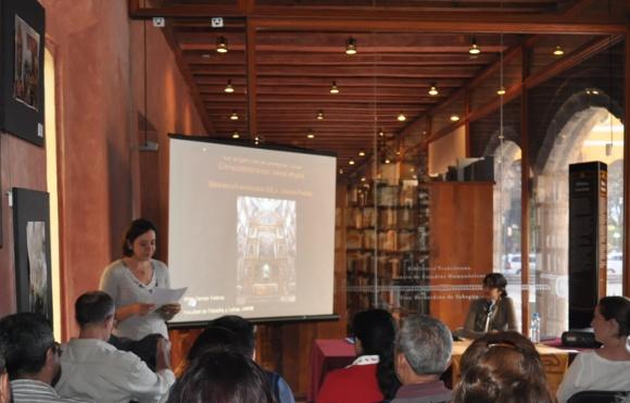 """Inicia ciclo de conferencias """"Imágenes Marianas"""" en la Biblioteca Franciscana de Cholula."""