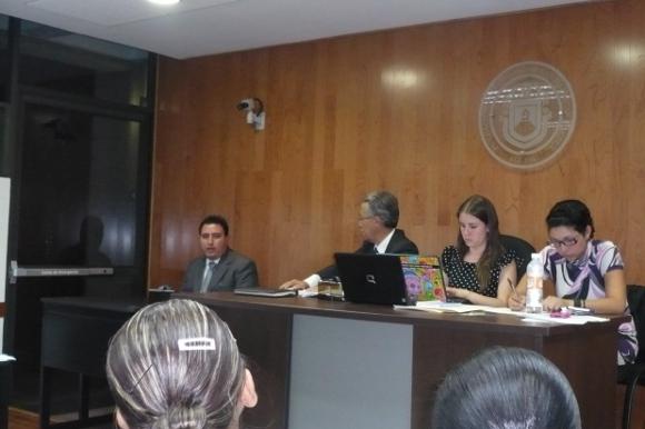 Sala de juicios Orales de la UDLAP escenario de simulación penal de servidores públicos