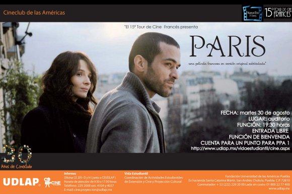 El 15° Tour de Cine Francés presenta… PARIS en el Cineclub UDLAP