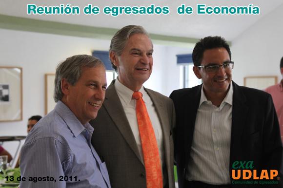 Emotiva reunión de egresados de Economía en la UDLAP