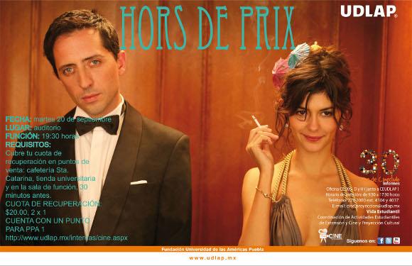 Cineclub presenta: Hors de Prix