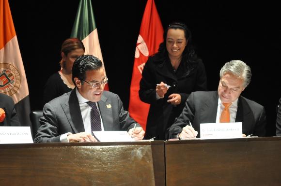 Firman convenio UDLAP y Grupo Financiero BANORTE