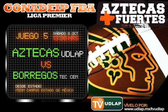 Juego 5 Aztecas vs. Borregos CEM