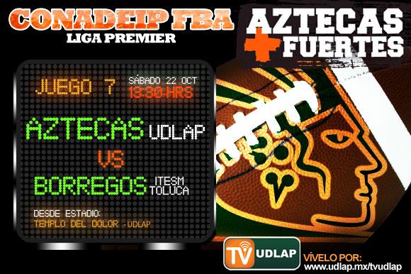 Aztecas vs. ITESM Toluca  en el Templo del Dolor