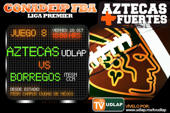 Aztecas vs. Borregos CCM en emparrillado del CCM