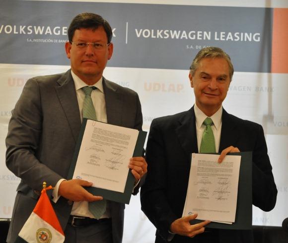 UDLAP, Volkswagen Bank y Volkswagen Leasing formalizan asociación estratégica
