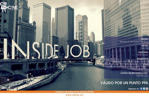 Inside Job en el Cineclub de las Américas