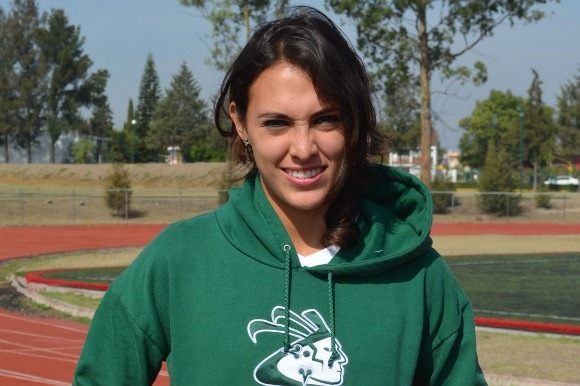 Atleta Azteca campeona nacional de salto de longitud