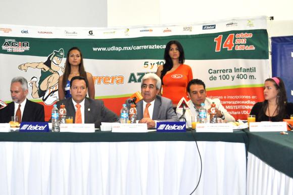 Se presentó la Cuarta Carrera Azteca UDLAP 5 y 10 kilómetros