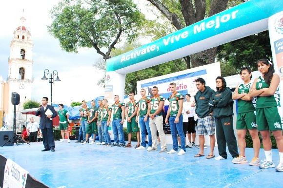 Aztecas UDLAP participaron en «Actívate, vive mejor»