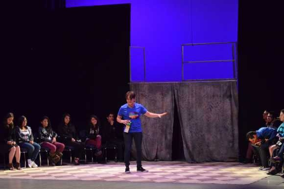 """Con teatro lleno se presentó """"Quisiera ser Hugo Arrevillaga"""" en el Festival Internacional de Teatro Puebla Héctor Azar 2012"""