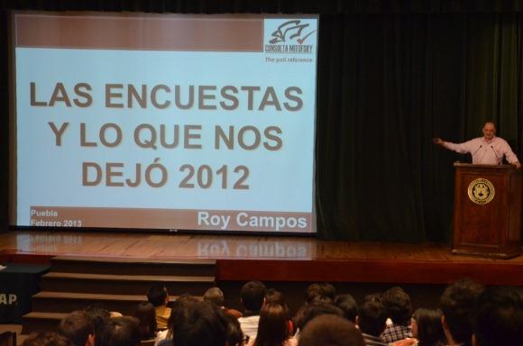 En México las encuestas electorales sirven para pronosticar al ganador: Roy Campos