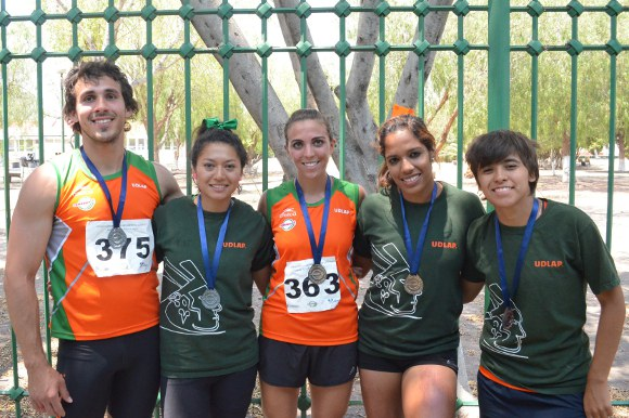 Oro, plata y bronce para el equipo de atletismo de la UDLAP