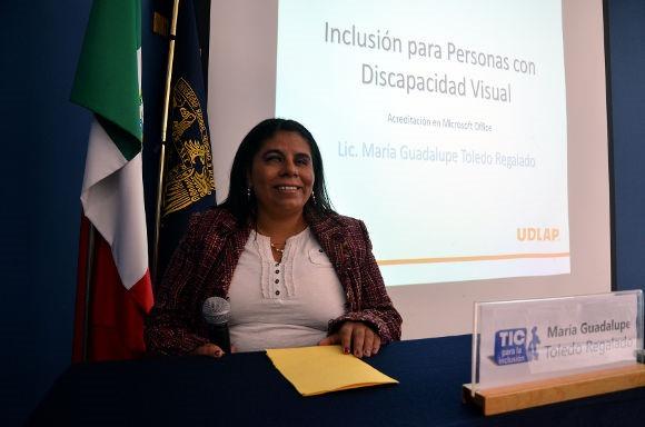 La UDLAP promueve la Inclusión para personas con discapacidad visual