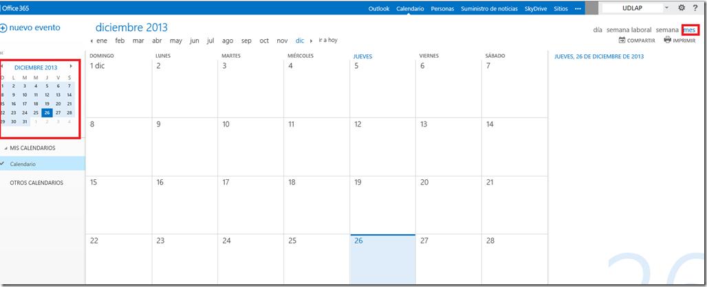 Calendario Outlook.La Herramienta De Calendario En Outlook Web App Blog De La