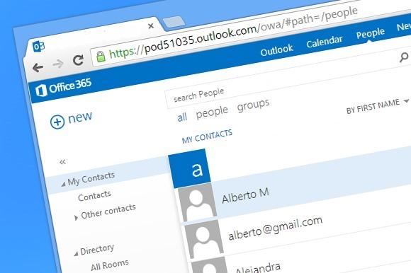Cómo importar contactos utilizando Outlook Web App
