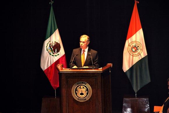 Discurso de Informe de Actividades 2013-2014,  Dr. Luis Ernesto Derbez Bautista