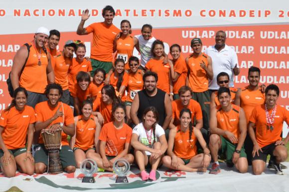 Aztecas repiten subcampeonatos de atletismo en la CONADEIP