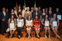 Entrega de reconocimientos académicos y de trayectoria Azteca