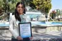 Estudiante de la UDLAP fue la receptora del premio de la AWWA