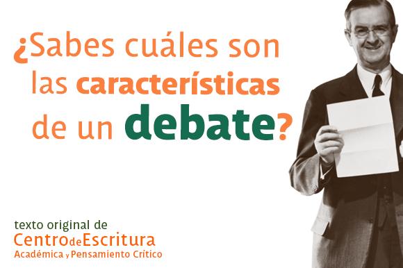 Caracter sticas del debate for Cuales son las caracteristicas de un mural