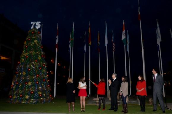 Encendido del árbol de Navidad UDLAP 2015