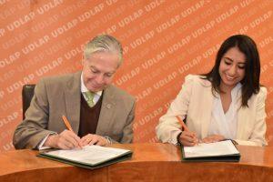 Huejotzingo, primer municipio en firmar con la Universidad de las Américas Puebla, convenio en favor de la educación de los jóvenes del municipio