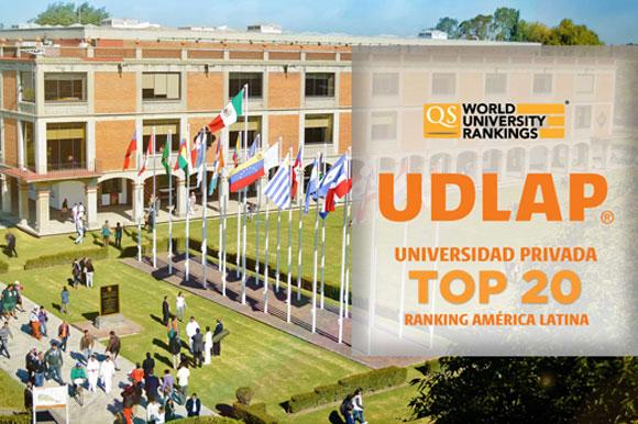 UDLAP, universidad privada top 20 Ranking América Latina