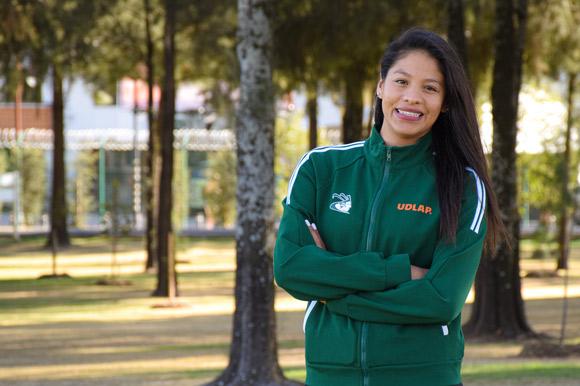Seomara Sainz, estudiante de la Universidad de las Américas Puebla