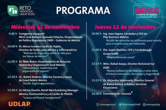 UDLAP invita a su XIX Simposio Internacional Reto Negocios UDLAP 2020